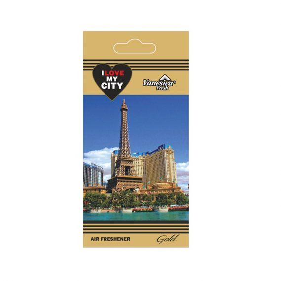 Odorizant auto Vanesica I Love My City Gold