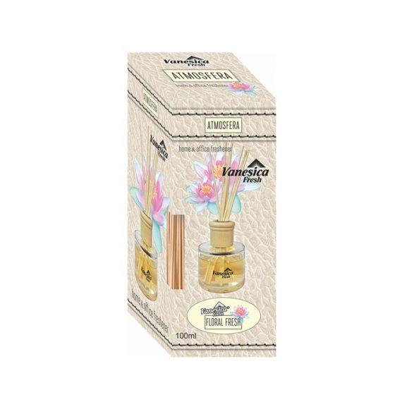 Odorizant cu betisoare Vanesica 100 ml Floral Fresh