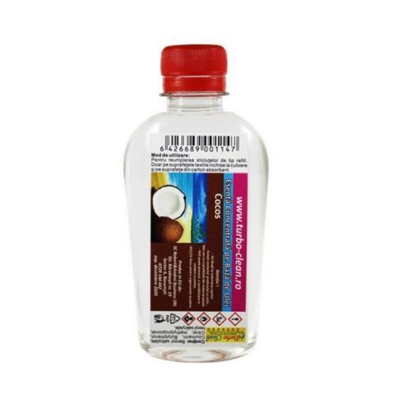 Odorizant pentru aparate profesionale Turbo Clean, Cocos 200 ml, rezerva, refill dispenser
