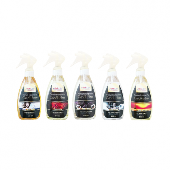 Pachet 5 parfumuri premium textile pentru casa si masina cu parfum la alegere