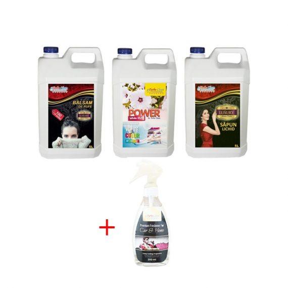 Pachet premium de lux pentru casa Turbo clean cu parfum la alegere